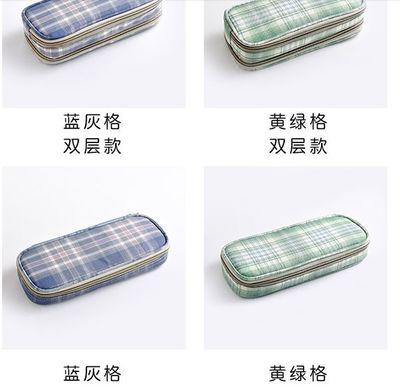 日系风jk笔袋女简约大容量多功能文具盒ins潮 少女铅