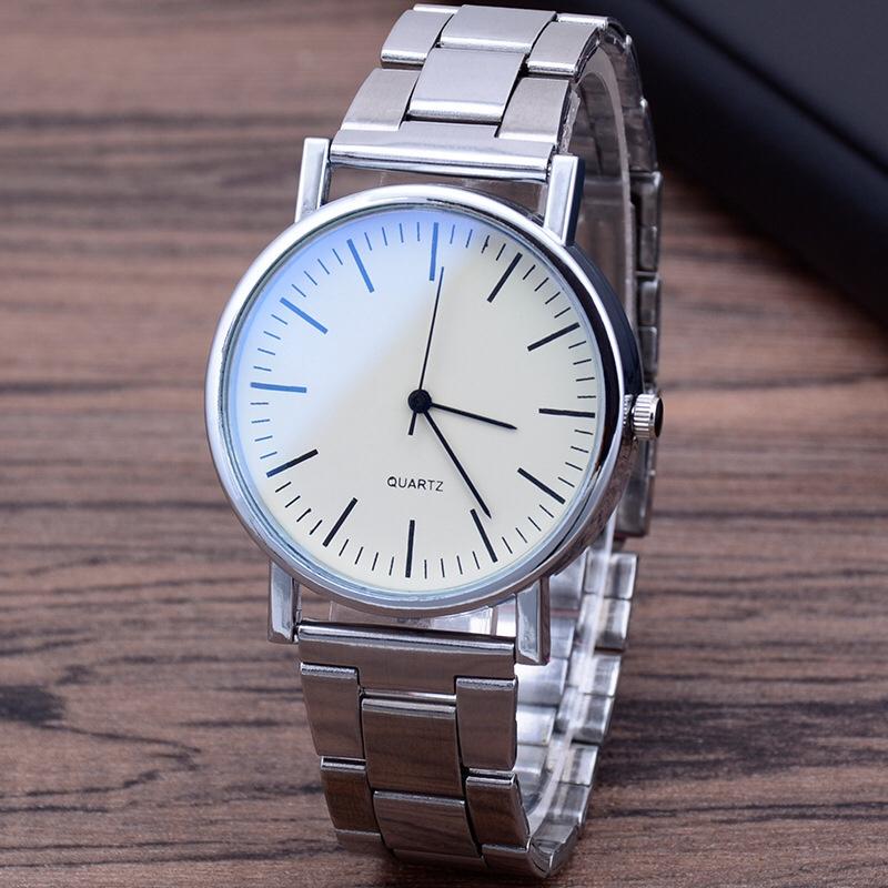厂家直销爆款蓝光玻璃钢带手表男 三眼石英手表 礼品男士手表批发3