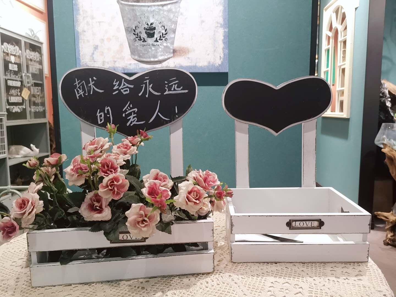 外贸套二实木带黑把花合收纳盒个性装饰品客厅装饰开业软装家居奢华时尚创意家居装饰品
