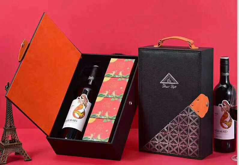 现货批发2020年中秋月饼礼盒团购中秋红酒月饼礼盒中秋红酒礼盒