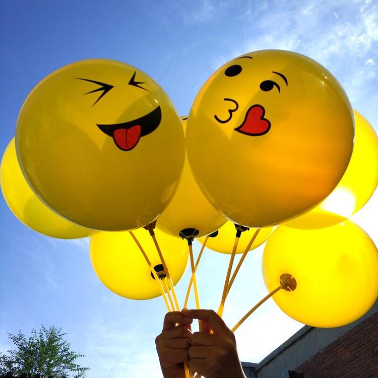 地推神器表情气球