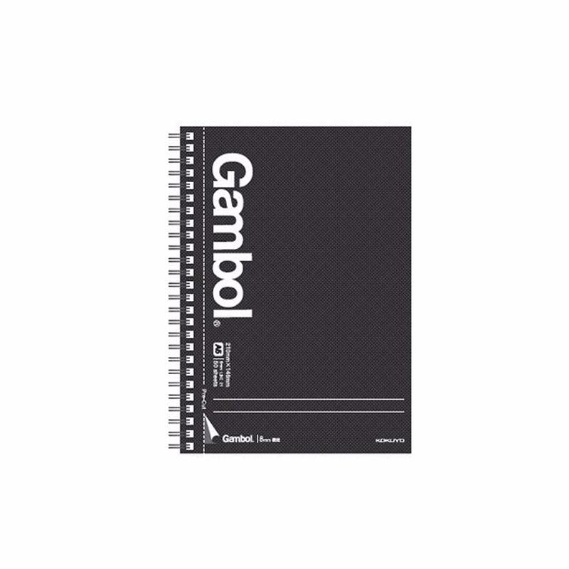 KOKUYO/国誉 WCN-GTN3554 双螺旋装订本·易撕线系列 A5/50页 黑色