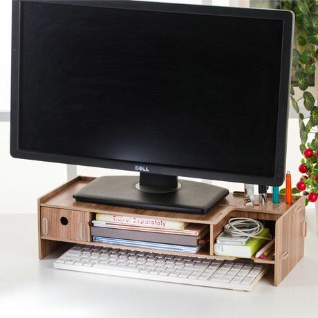 电脑屏幕增高架,办公文具收纳