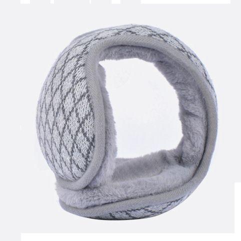 新款冬季保暖耳罩男女款棱格子折叠保暖耳包防寒毛绒耳暖耳捂