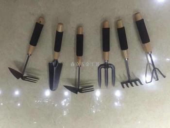 木柄海绵柄花铲两头锄三爪三齿五齿耙 木柄园林园艺工具 耙子