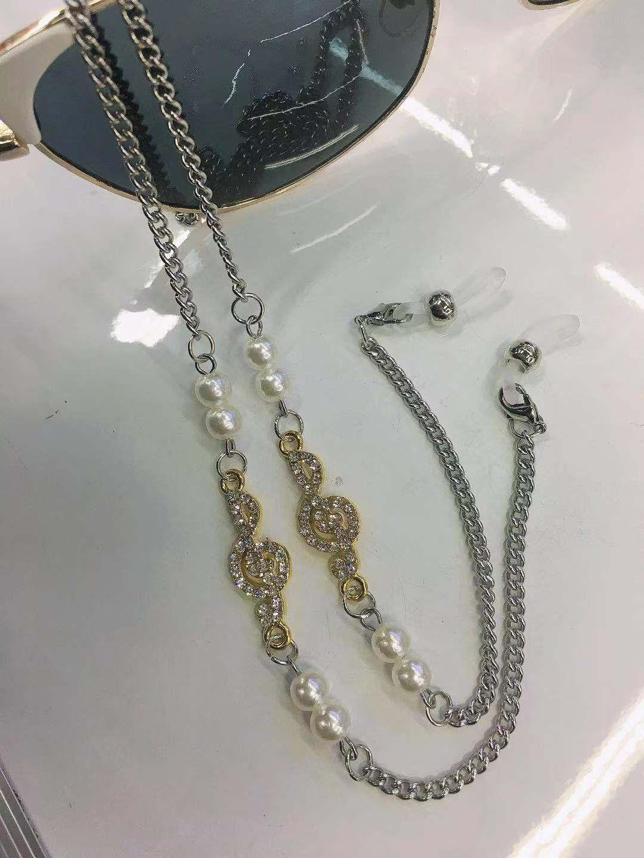 不锈钢眼镜链珍珠链