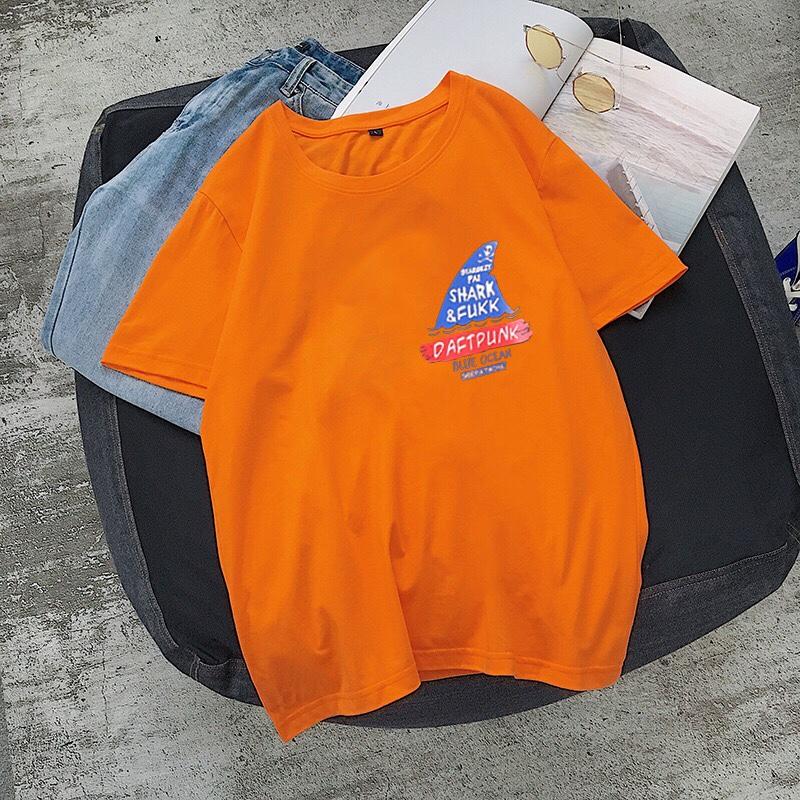 橙色修身短袖