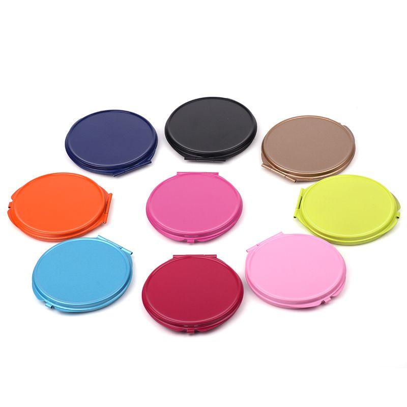 马口铁70圆形彩色随身镜化妆镜镜胚小镜子