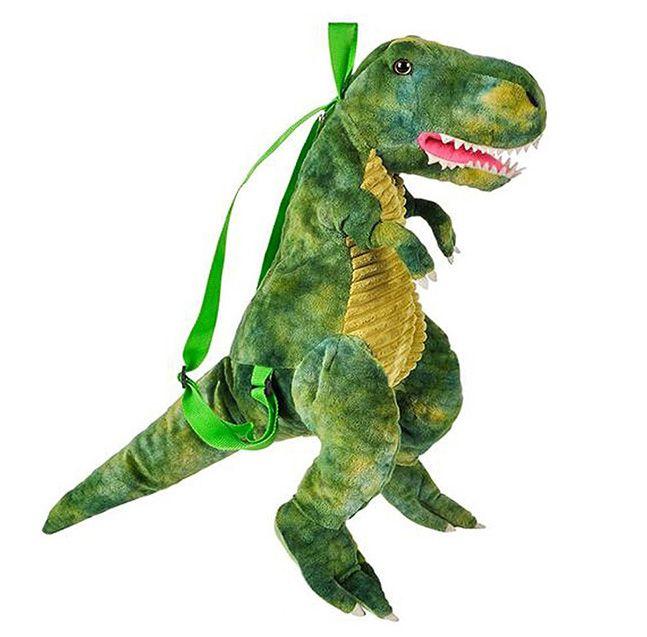 毛绒玩具背包恐龙双肩包暴龙三角龙儿童可爱包包立体霸王龙书包