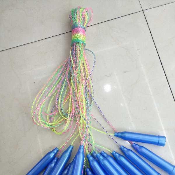 义乌玩具批发儿童七彩跳绳运动户外活动学校地摊热卖