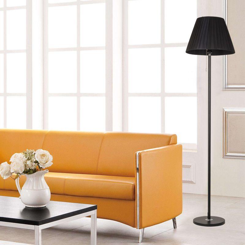 简约客厅书房卧室落地灯立式置物托盘落地台灯茶几灯欧美式落地灯