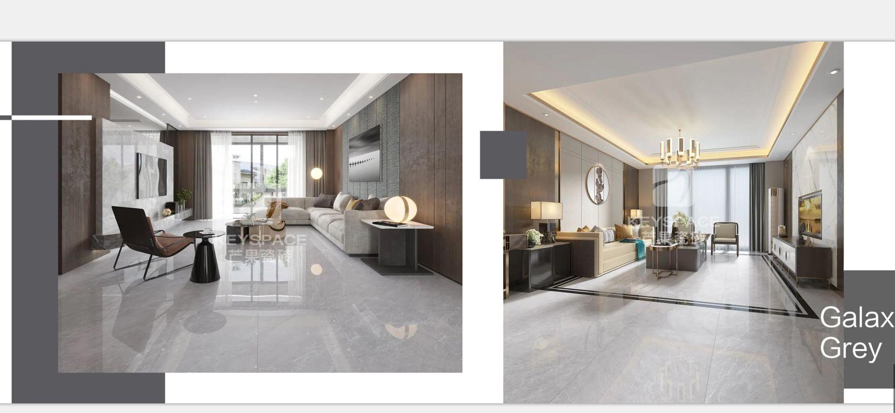 芒果瓷砖客餐厅卫生间地砖灰色瓷砖KJ12601