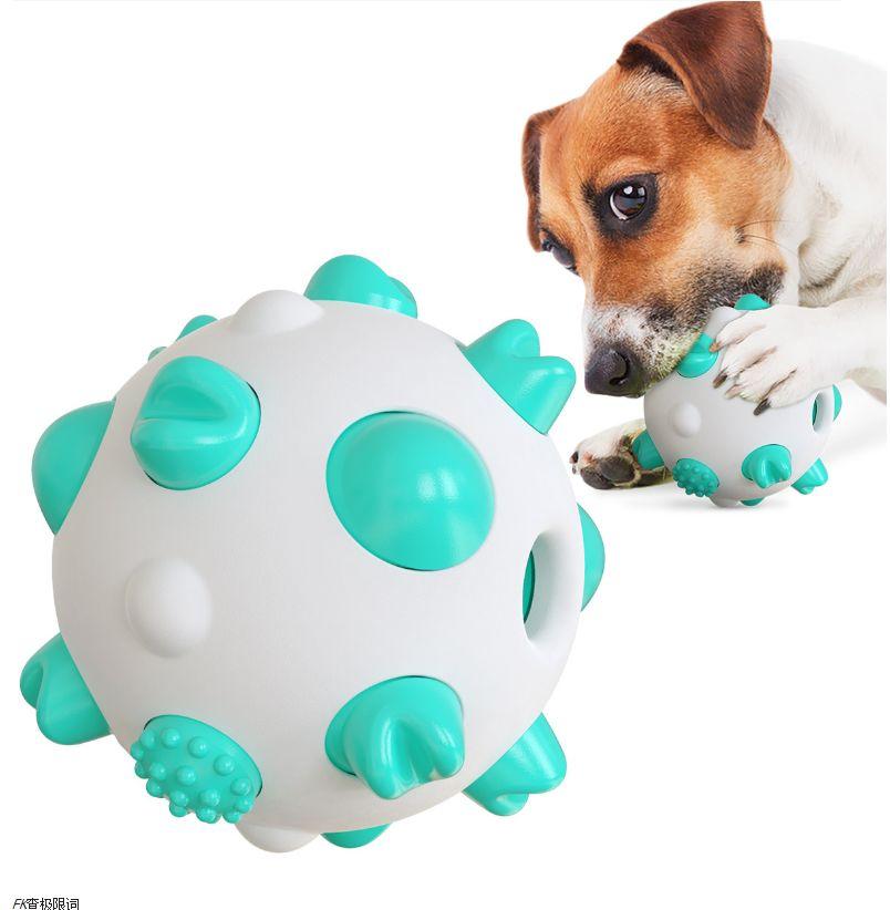 亚马逊新款宠物用品球形狗狗磨牙棒玩具耐啃咬骨头牙刷狗玩具