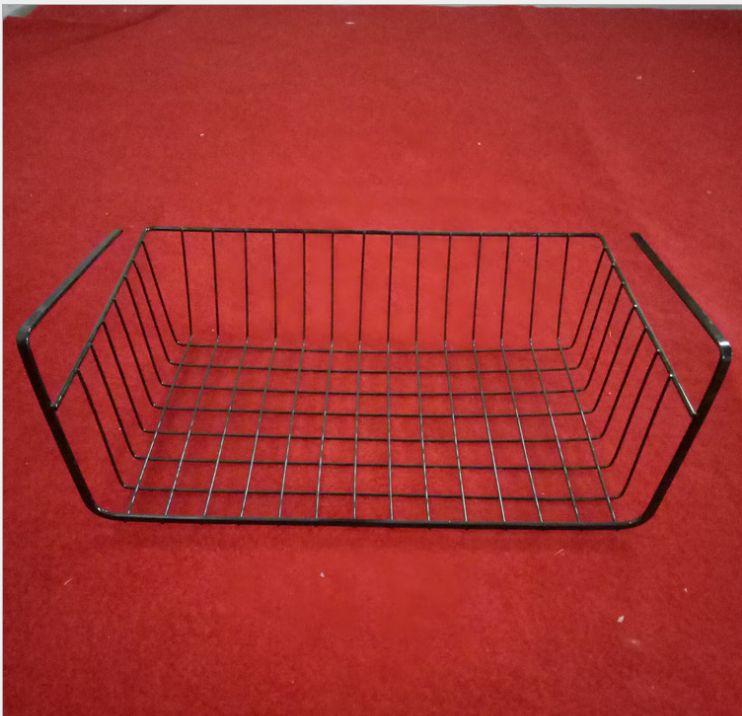 厂家供应厨房下挂篮橱柜下置物架隔层挂篮储物架 冰箱挂架