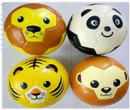15cmPU球动物头像球可以踢的海绵足球儿童玩具球