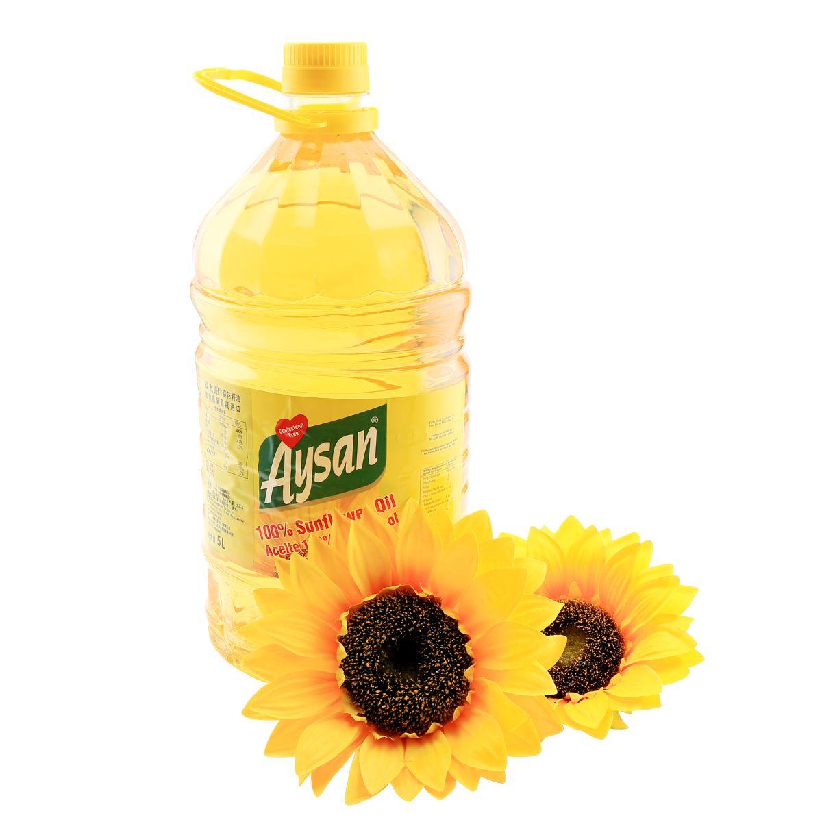爱太阳葵花籽油原装进口一级食用油脱壳压榨家用装 5L