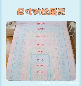 厂家直销婴儿纯棉隔尿垫宝宝彩棉尿垫尿不湿防水透气可洗双面