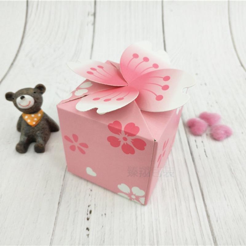 现货纸盒 欧式粉色喜糖盒 樱花糖果盒 厂家包装盒定制