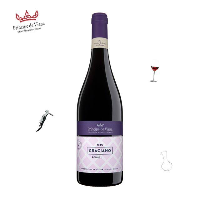 西班牙原瓶原装进口维亚纳王子嘉西诺干红葡萄酒