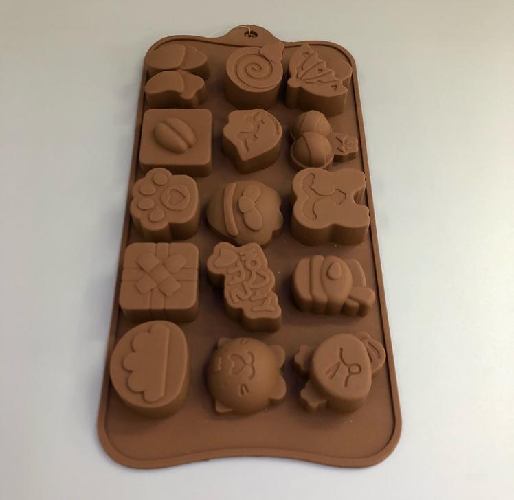 硅胶巧克力蛋糕模(生活图片)
