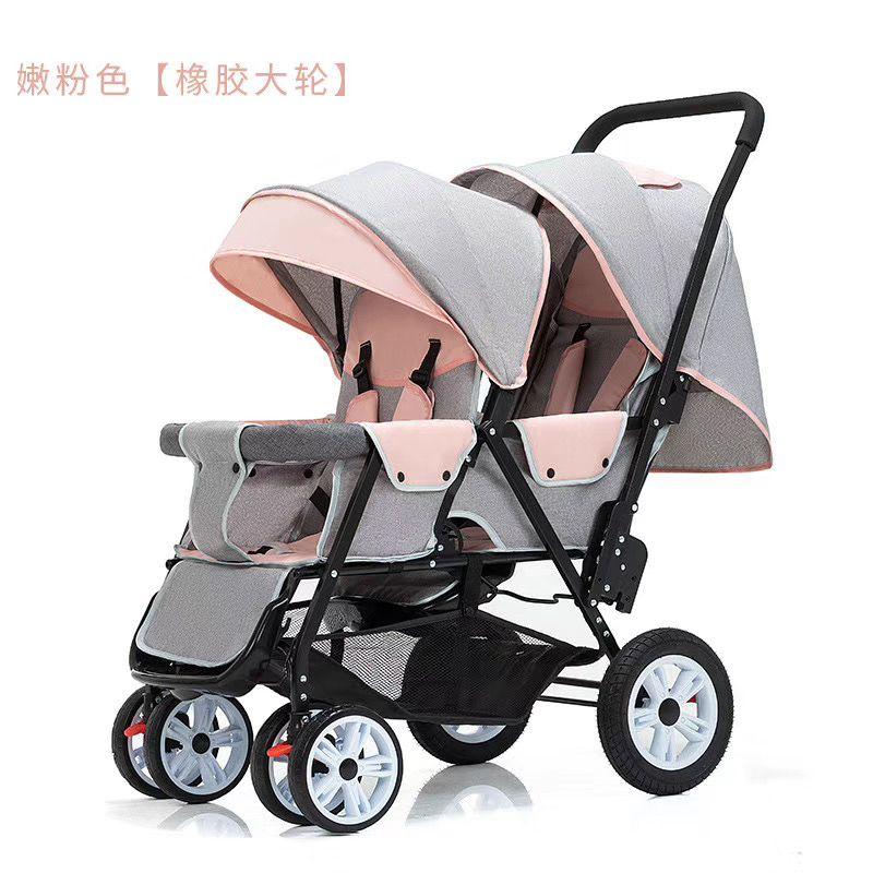 婴儿推车可坐躺折叠儿童手推车新生宝宝避震四轮推车双胞胎202-2