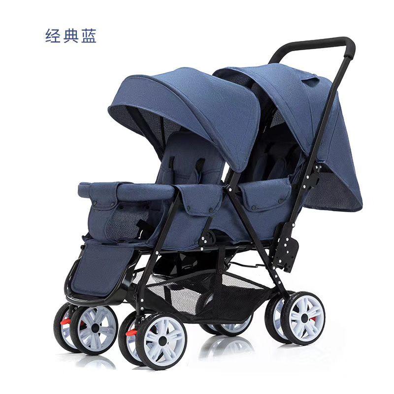 双胞胎折叠儿童手推车新生儿宝宝避震四轮推车202-1