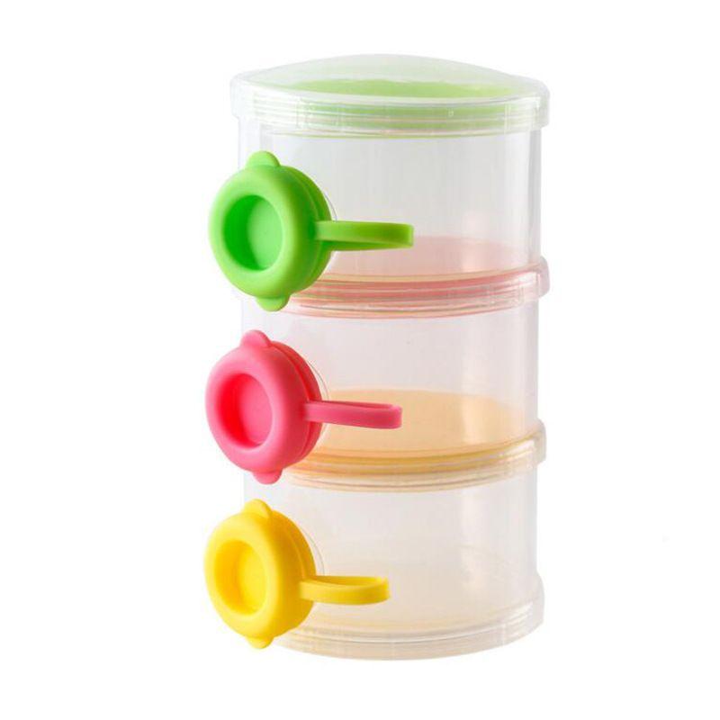 婴儿奶粉格 三层奶粉盒 宝宝侧开零食储存罐 母婴用品批发