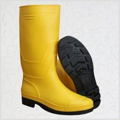 黄色雨鞋 PVC雨鞋 黑底黄面雨靴 工业雨靴 劳保鞋码数39-46