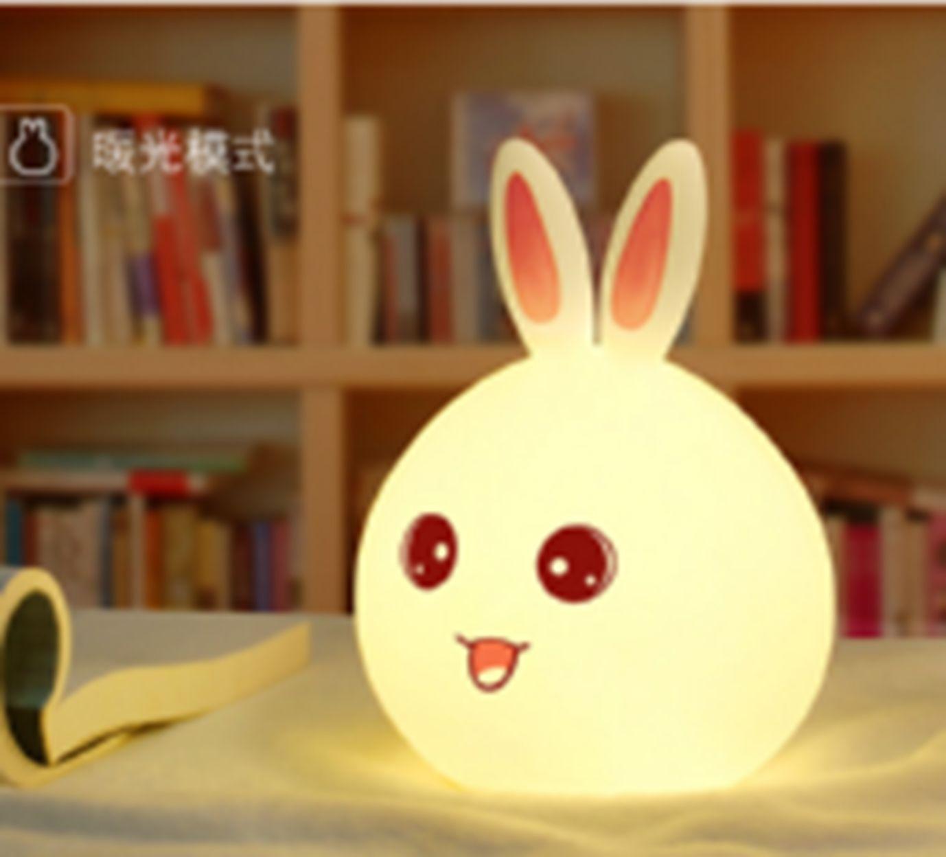 义乌好货  菠萝头KS-302小白熊/兔子卡通硅胶灯/G2-15267