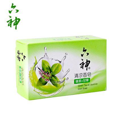 六神 清凉香皂(绿茶+甘草)125g 去除粘腻 清凉舒爽