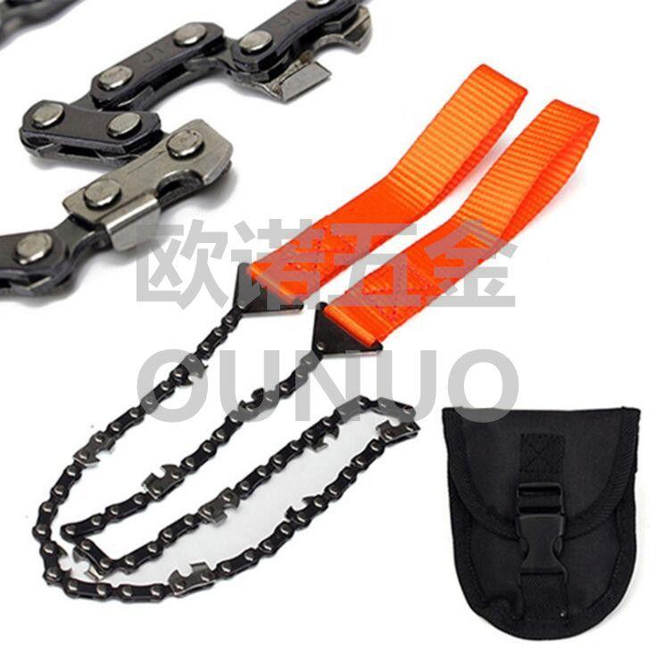 户外野营手拉链锯便携式锯子求生工具手工修枝锯多功能线锯口袋锯