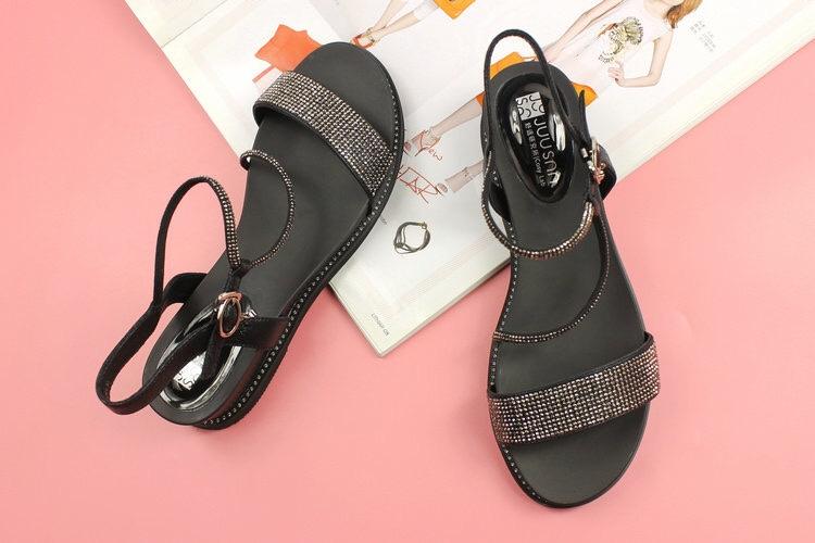巨圣凉鞋夏季新款欧美坡跟露趾女凉鞋低跟女鞋韩版Z892100415