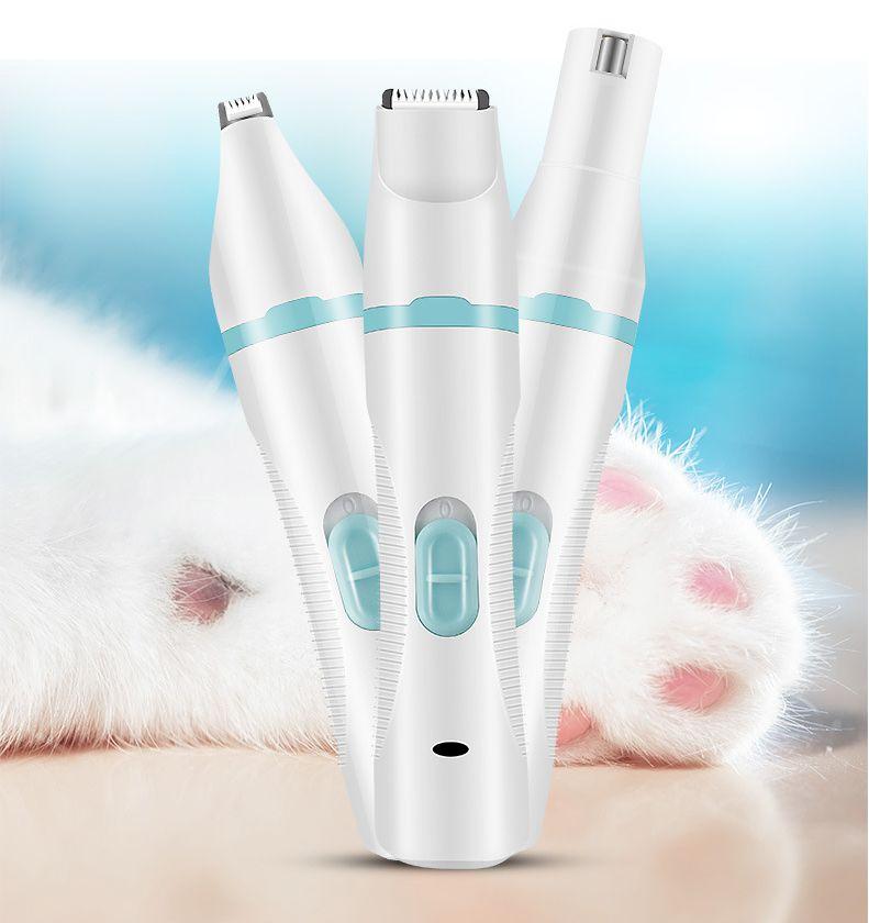 亚马逊宠物电推剪USB充电多功能三合一修毛磨甲器狗剃毛机电推子