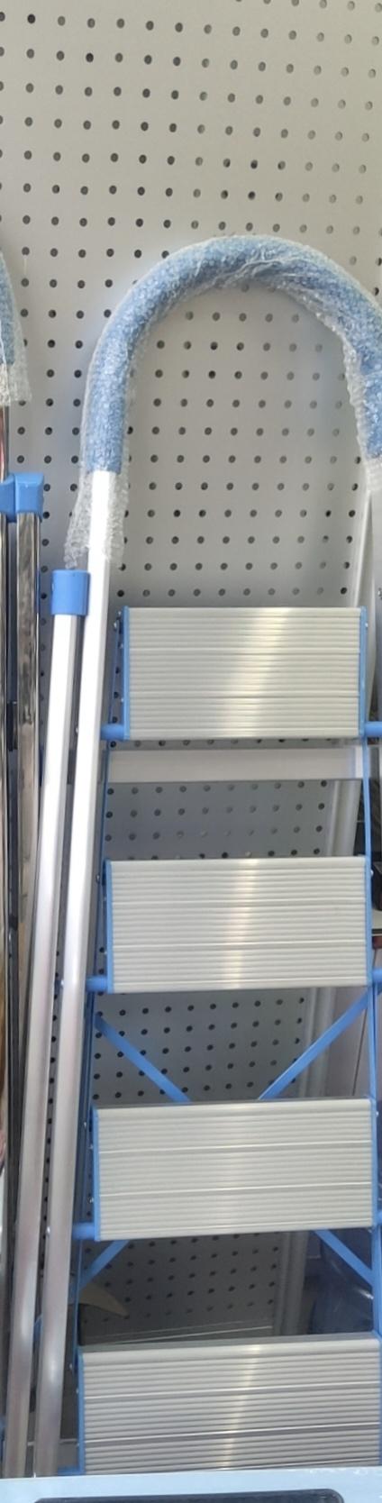 铝合金梯子人字梯双侧梯折叠梯四步人字圆弧形梯工程梯踏板梯