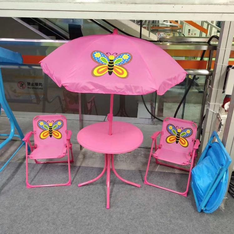 宝宝折叠桌椅套装卡通多色可爱餐桌防晒