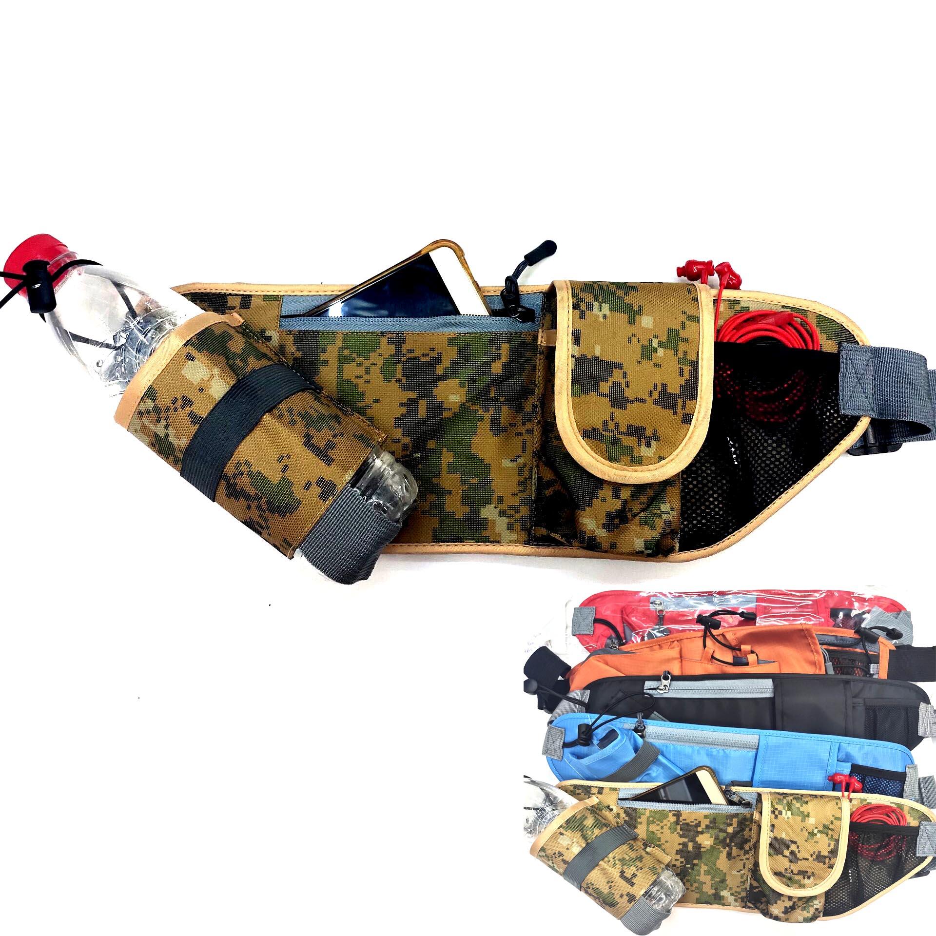多用途户外运动腰包跑步登山水壶腰包健身骑行防水防盗隐形手机包