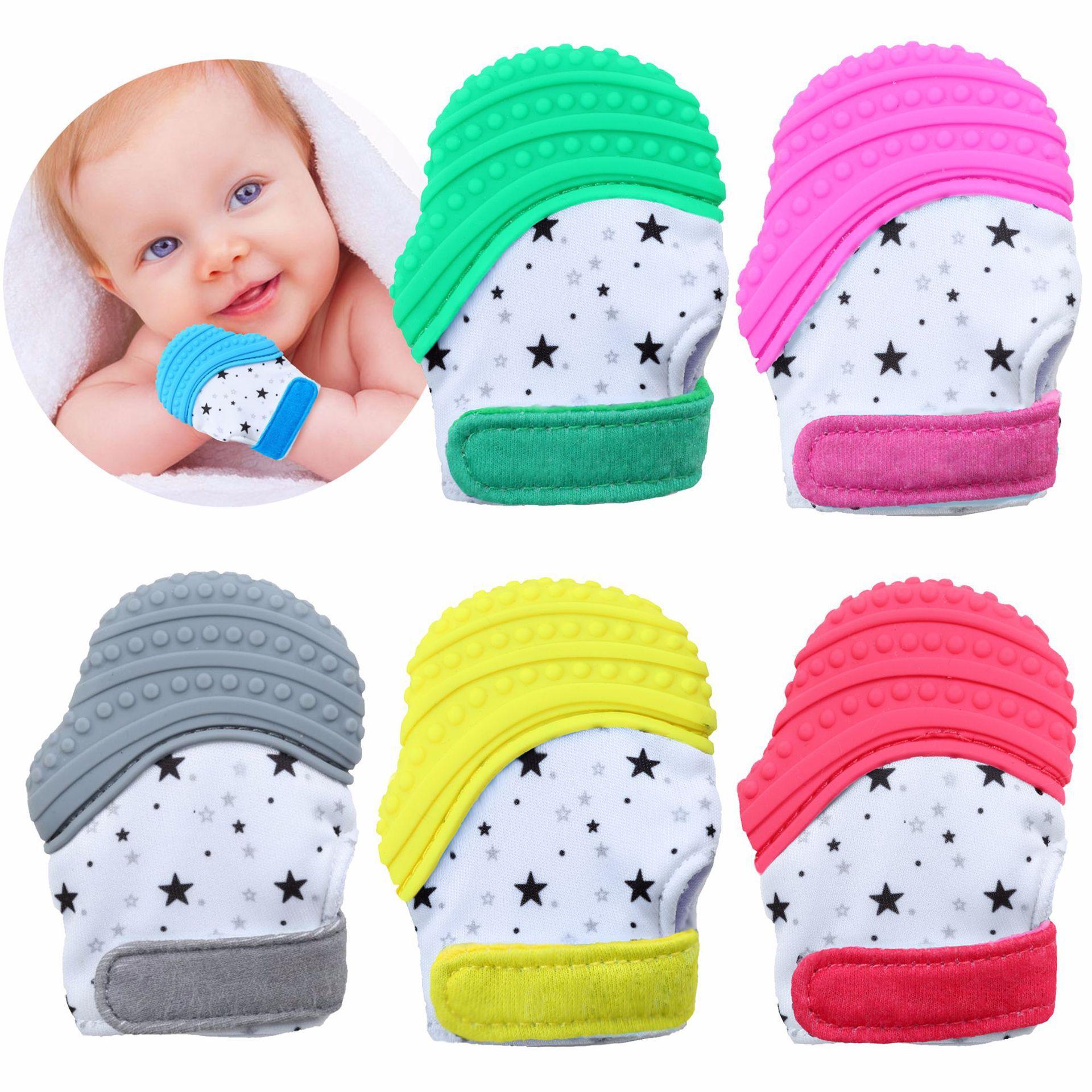 亚马逊热卖 新品防吃手套牙胶婴儿牙胶手套宝宝磨牙