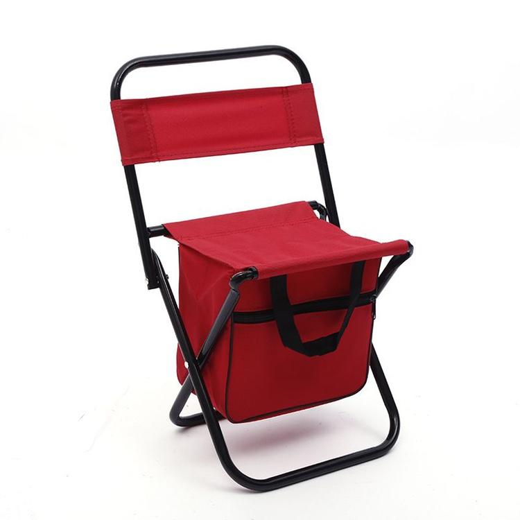 纯色带包写生靠背椅户外钓鱼凳便携式折叠椅金属牛津布小板凳包