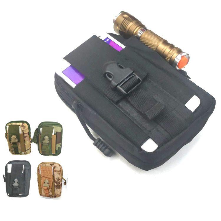 战术雷霆腰包挂包尼龙户外运动腰包迷彩防水零钱包 穿皮带手机包