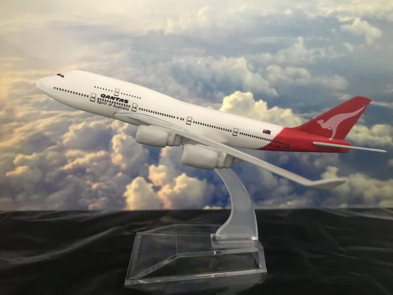 飞机模型(16CM澳大利亚航空B747-400) 金属飞机 合金飞机模型