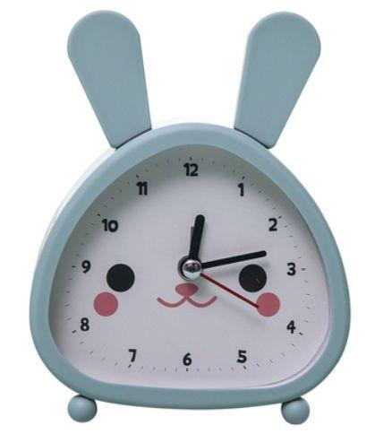 兔子卡通闹钟简约静音卧室床头儿童中小学生可爱女孩闹钟