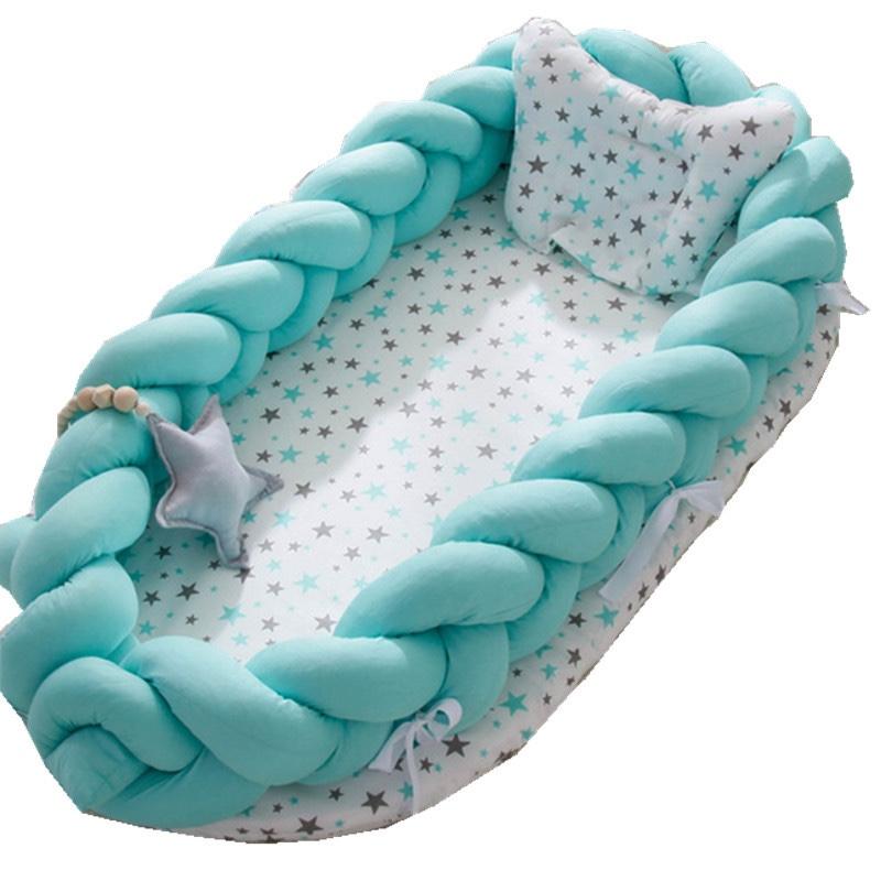 新生儿仿生床中床二件套宝宝便携式哄睡婴儿床多功能床围可拆洗批