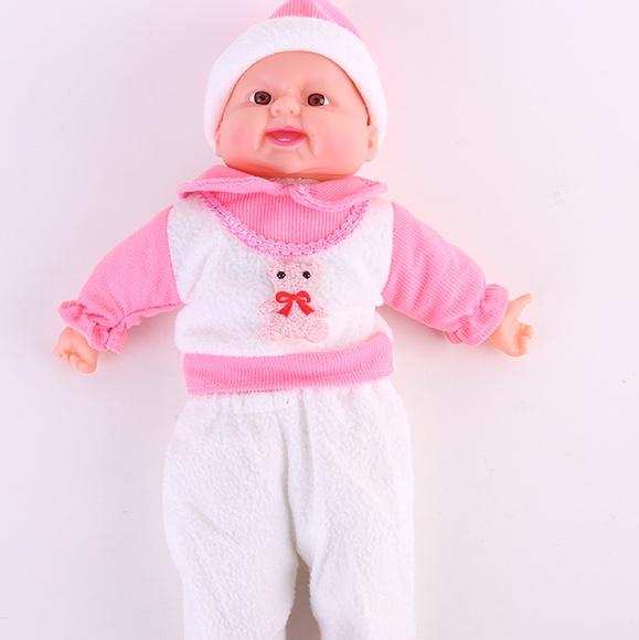 35厘米搪胶音乐笑娃婴儿娃娃