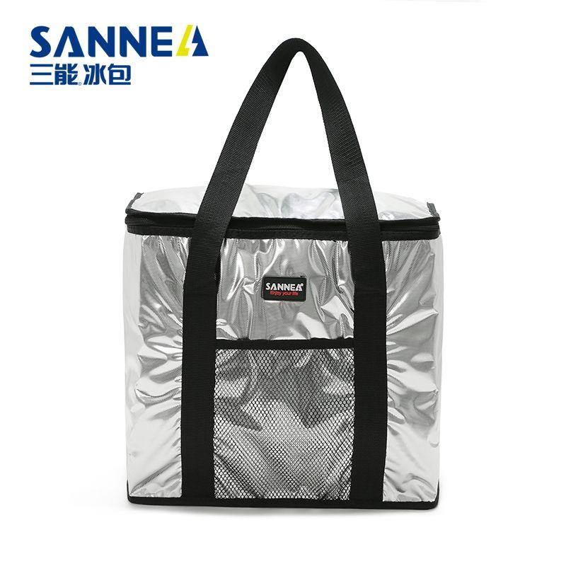 SANNE铝膜保温袋 户外野餐手提便当包 冷藏保鲜保冷送餐包批发