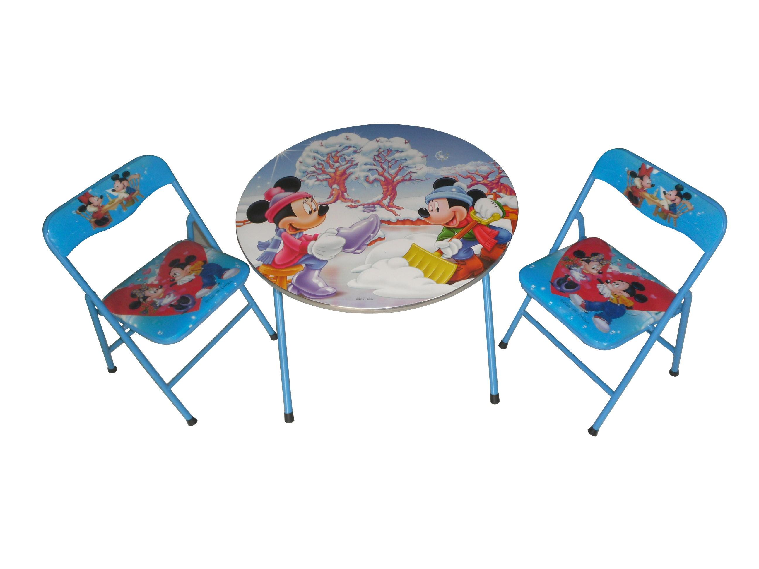新款儿童学习桌可折叠卡通书桌幼儿园学生家用简易作业桌椅套装写