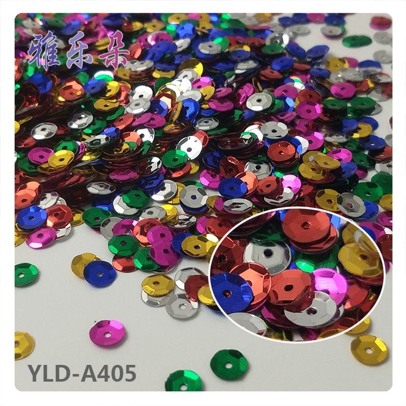 雅乐朵6MM圣诞系列亮片圆形珠片银底凹片PVC亮片网红爆款摄影配件