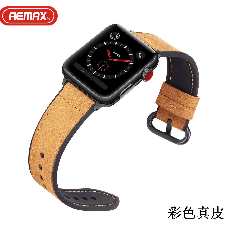 AEMAX 适用于Apple watch扣真皮皮带Iwatch手表带经典扣式表带