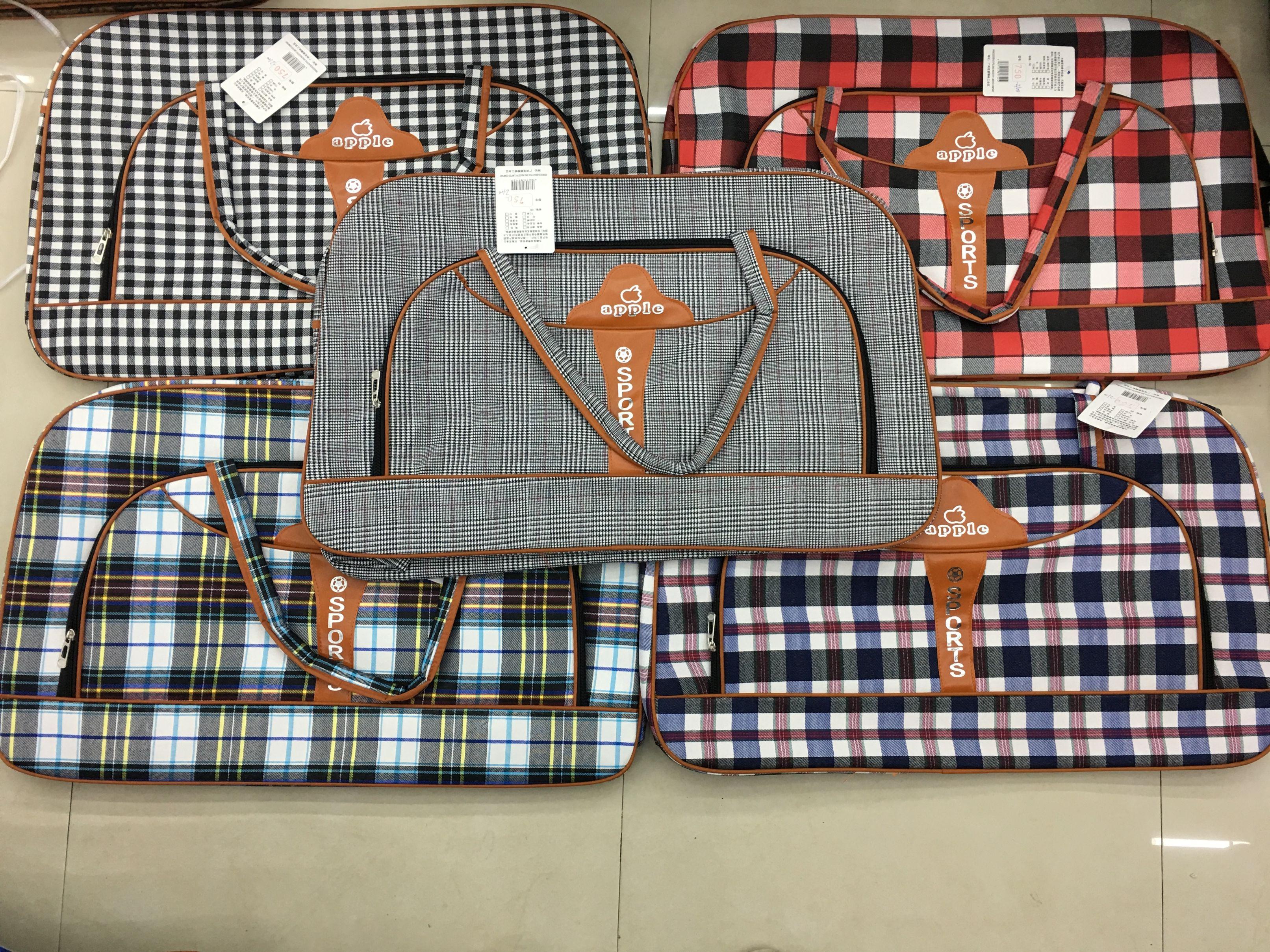 格子大包半圆包枕包行李包旅行包外贸现货订做7502100