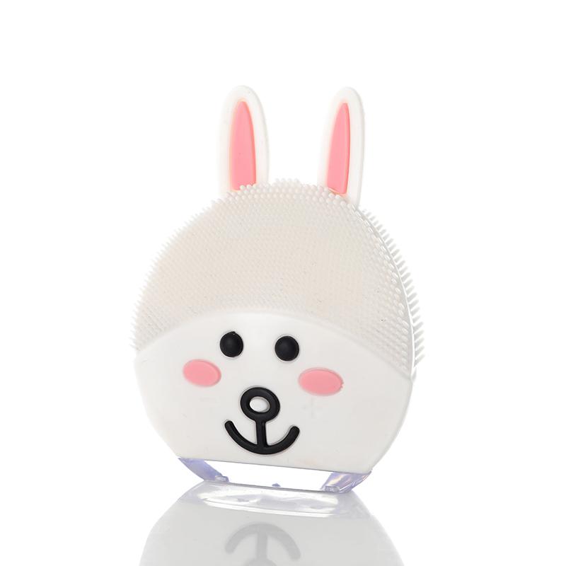 小兔卡通硅胶洗脸仪 多功能洗脸器 电动震动洁面仪