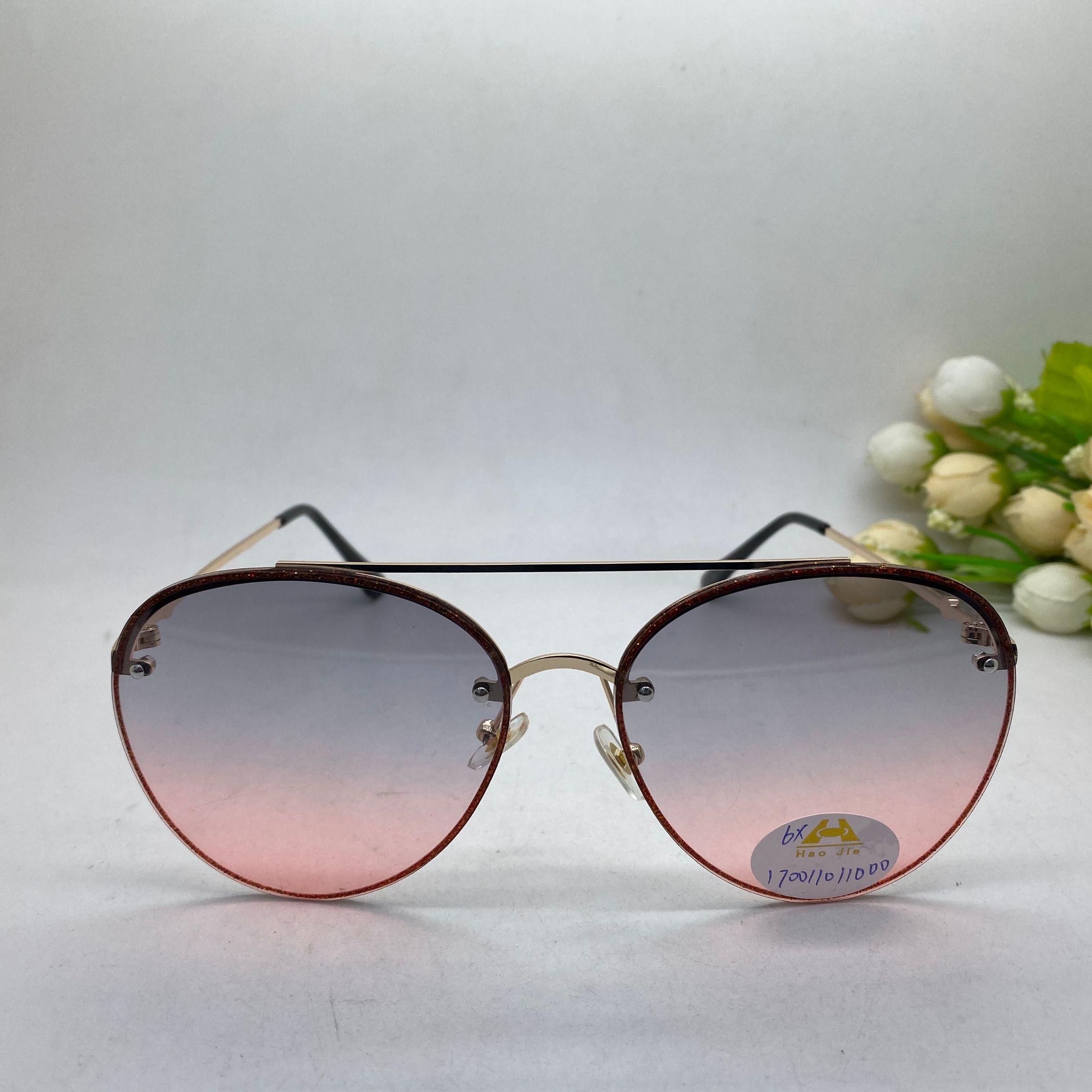 义乌好货 新款双梁男女太阳镜 渐变镜片时尚款170011